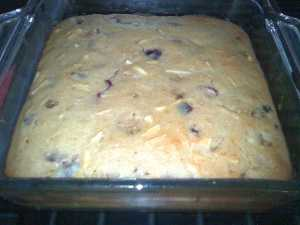 Fig And Almond Blondies