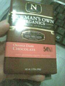 Newman's Own Organic Orange Dark Chocolate
