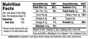 Naturally More Almond Nutrition