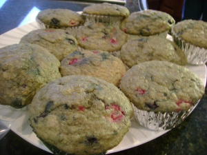 Kashi Vanilla Blueberry Raspberry Muffins