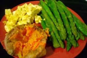 Sweet Potato, Asparagus, Maple Mustard Tofu