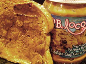 Toast With Cookie Dough Peanut Butter