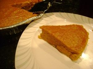 Recipe: Crustless Pumpkin Pie