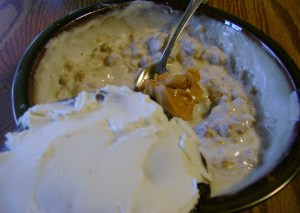 Carrot Muffin Bottom Yogurt With SB PB, Deep Chocolate Vitatop With Cream Cheese
