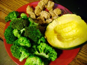 Broccoli, Acorn Squash, Zesty Lemon Tempeh