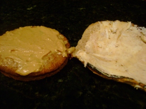 Cranbran Vitatop With White Chocolate Wonderful, Toast With Peanut Butter Cookie Spread