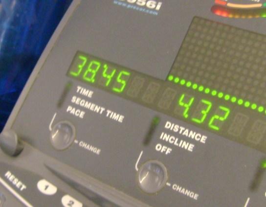 11 Miles In 1:38:45