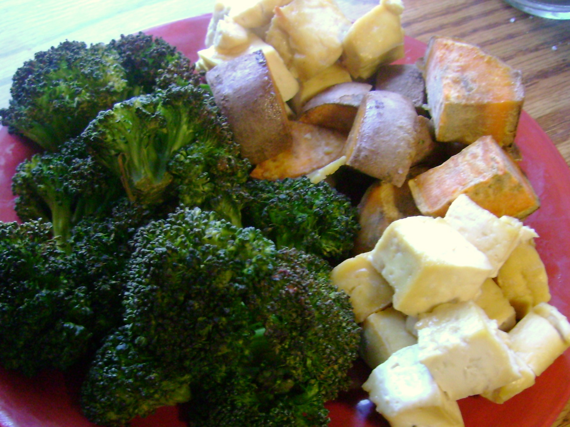 Roasted Broccoli And Sweet Potato, Maple Baked Tofu