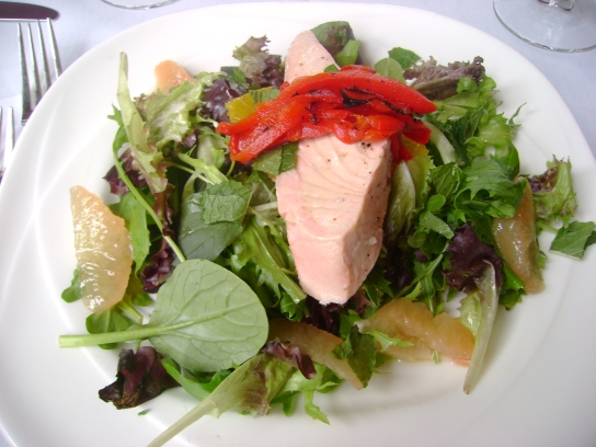 Chilled Salmon Salad With Citrus Fruit And Vinagrette