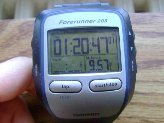 9.57 Miles In 1:20:47