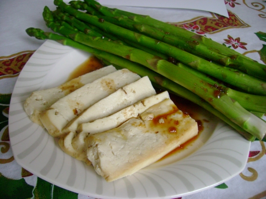 Honey Pineapple Soyaki Tofu And Asparagus