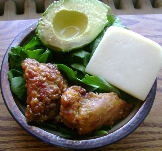 General Gao's Chicken, Avocado With Lemon And Sea Salt, Fresh Yoghurt Cheese