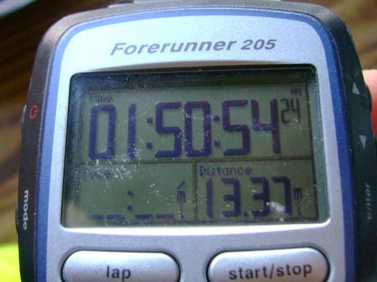 13.37 Miles In 1:50:54