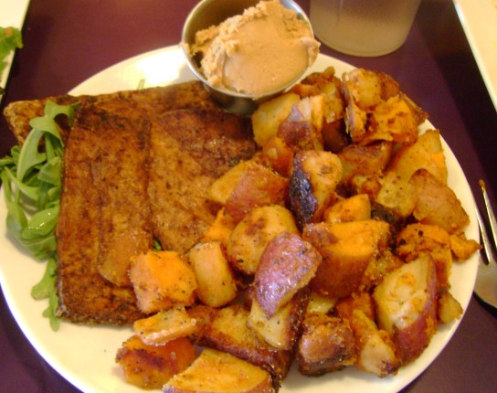 Home Fries, Homemade Tofu Bacon, Peanut Butter