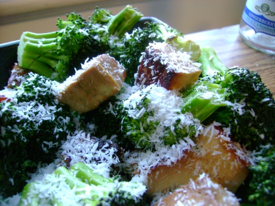 Tofu And Tempeh With Broccoli And Coconut