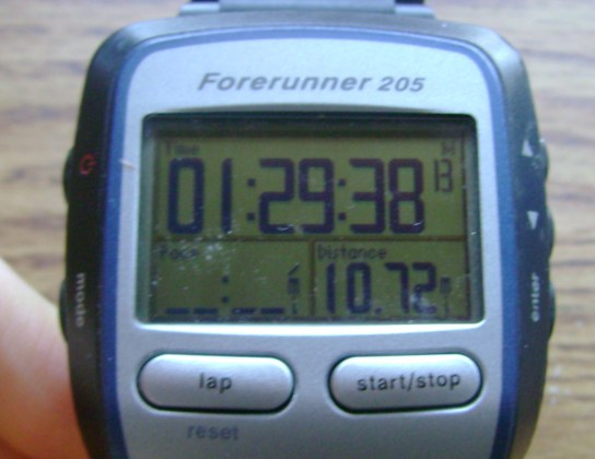 10.72 Miles In 1:29:38