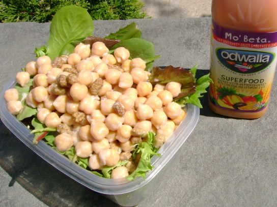 Chickpea And Mulberry Salad With Simple Coconut Maple Dressing, Mo' Betta Odwalla