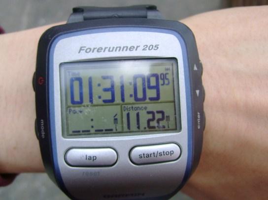 11.22 Miles In 1:31:09