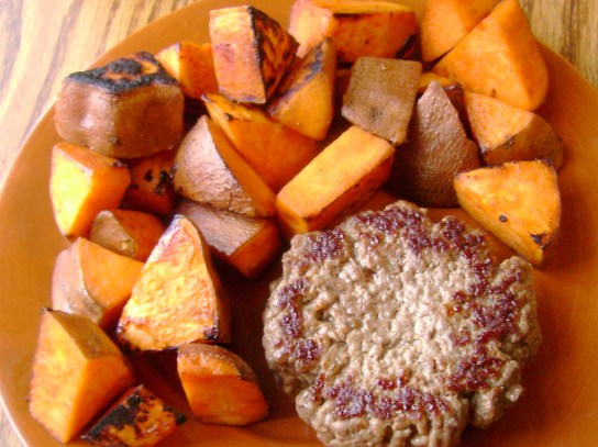 Grass-Fed Burger, Sweet Potato Hash