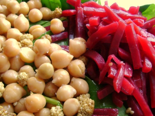 Chickpeas And Mulberries, Beets
