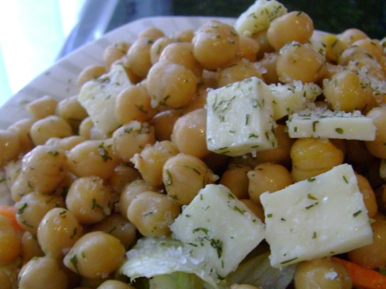 Dill And Lemon Chickpea Salad With Raw Parsley Cheddar
