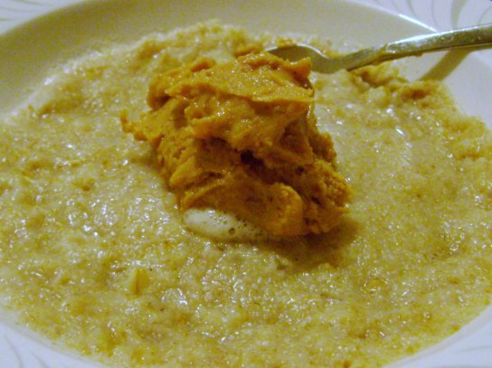 Oatmeal With Turbinado Peanut Butter