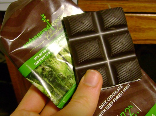 Endangered Species Dark Chocolate With Deep Forest Mint