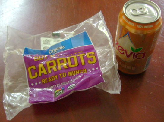 Organic Baby Carrots And Orange Zevia