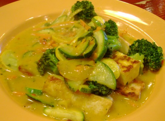 Coconut Curry Tofu And Veggies