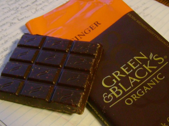 Green & Black's Ginger Dark Chocolate