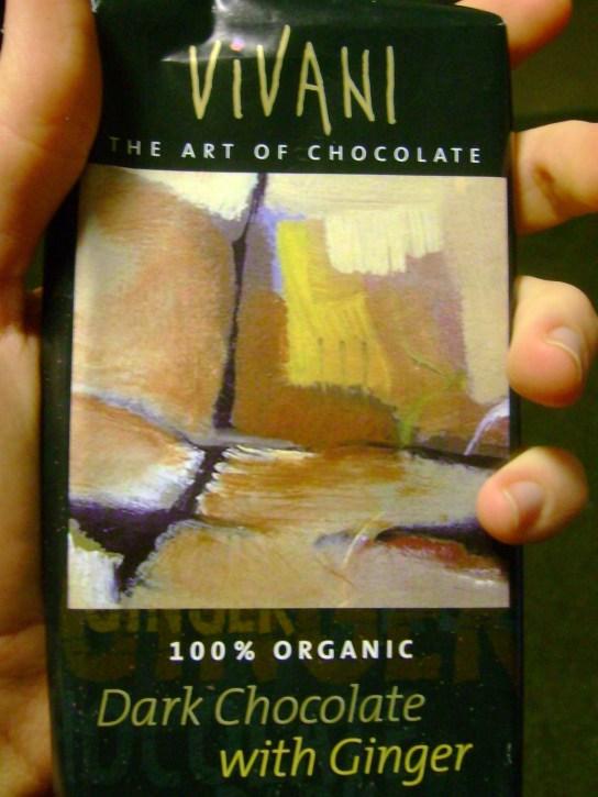 Vivani Dark Chocolate With Ginger