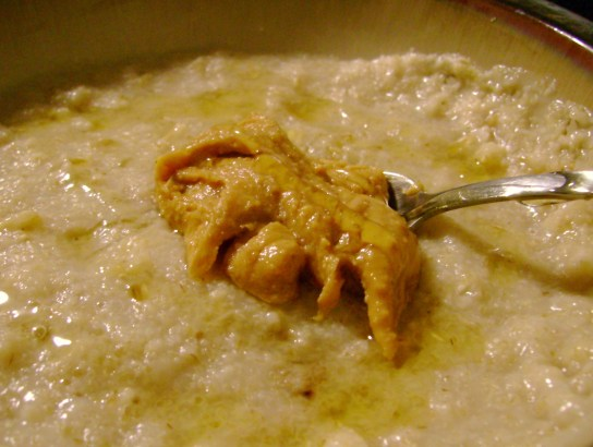 Oatmeal With Honey And Peanut Butter