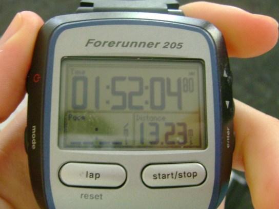 13.23 Miles In 1:52:04
