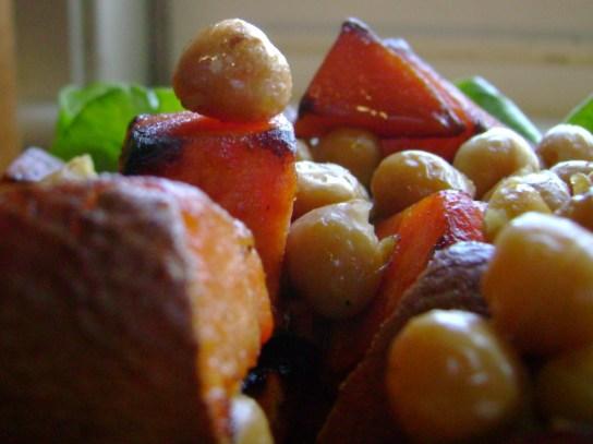 EVOO Seared Sweet Potato And Chickpeas