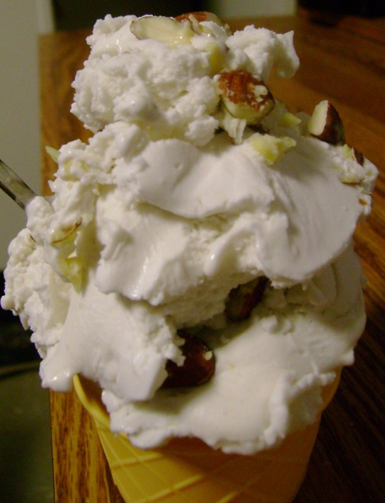Coconut Ice Cream With Almonds