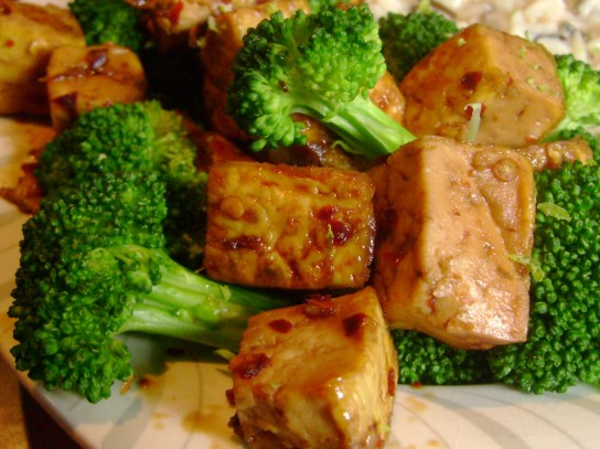 Sweet Chili Tofu With Broccoli
