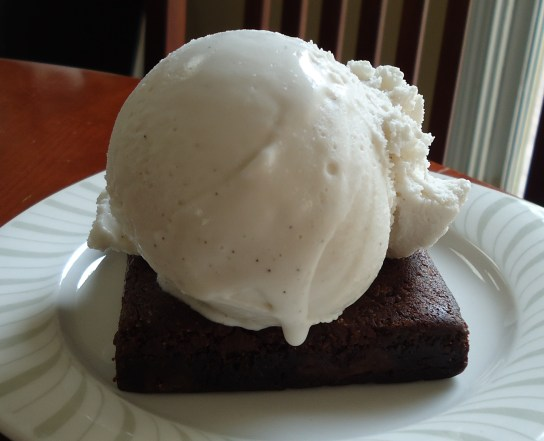 Gluten-Free Brownie With Vanilla Bean Coconut Milk Ice Cream