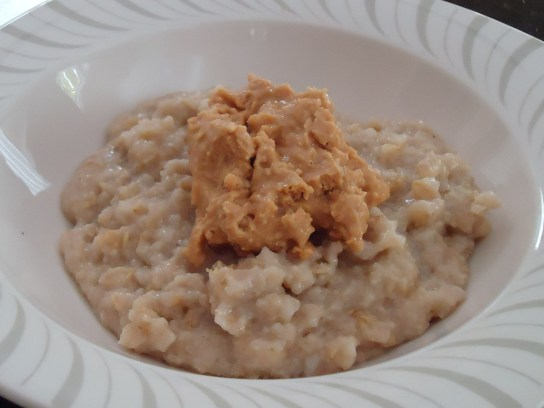 Oatmeal With Honey Maple Peanut Butter