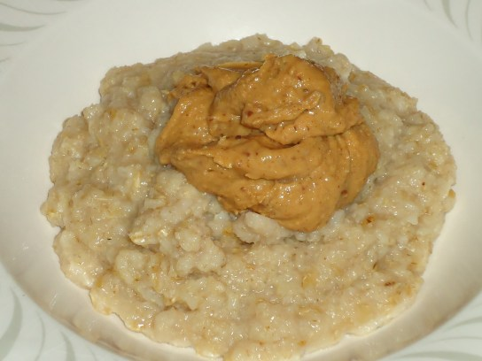 Oatmeal With Butter Toffee Peanut Butter