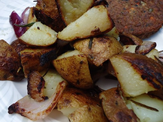 Home Fries With Red Onion And Rosemary