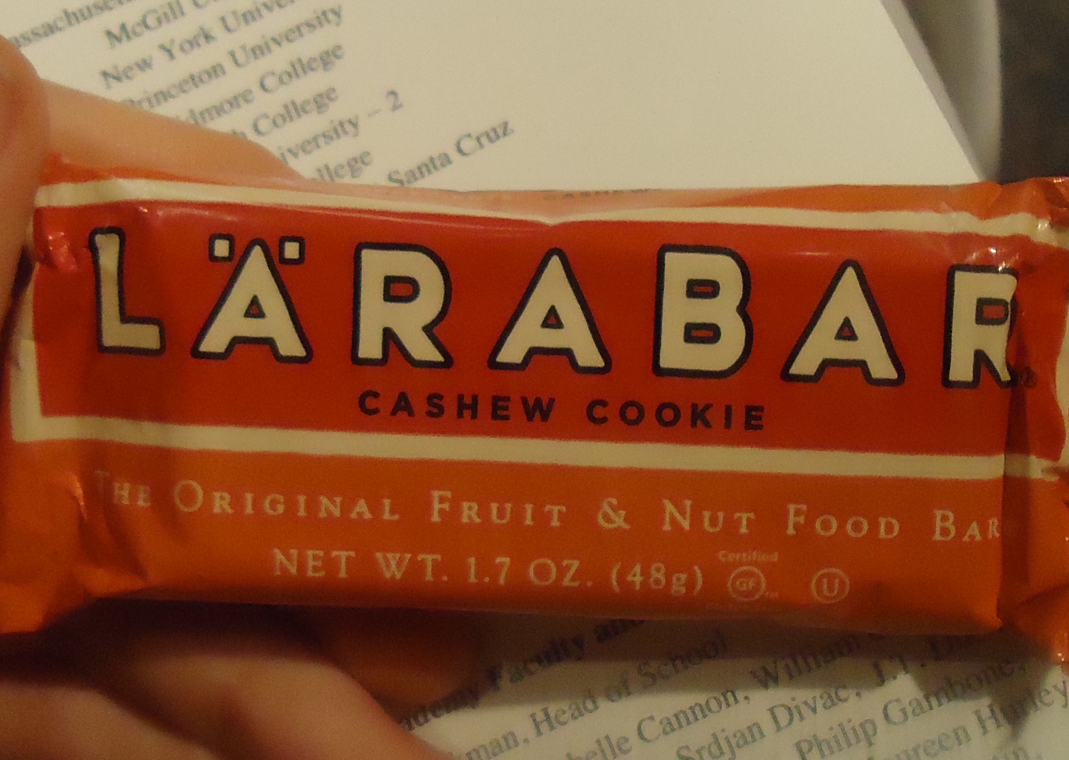 Cashew Cookie Larabar