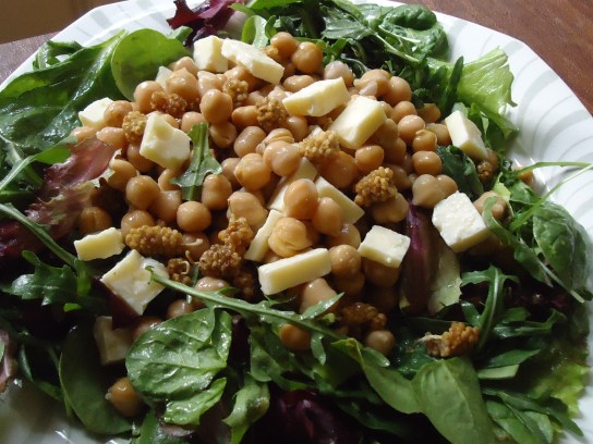 Chickpea Salad With Raw Ingredients