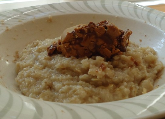 Oatmeal With Cookie Dough Peanut Butter