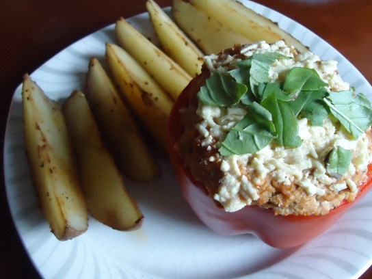 Paprika Pepper Fries, Vegan Stuffed Italian Pepper
