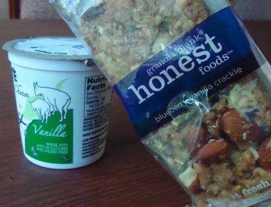 Vanilla Goat's Milk Yogurt, Blueberry Vanilla Granola Plank