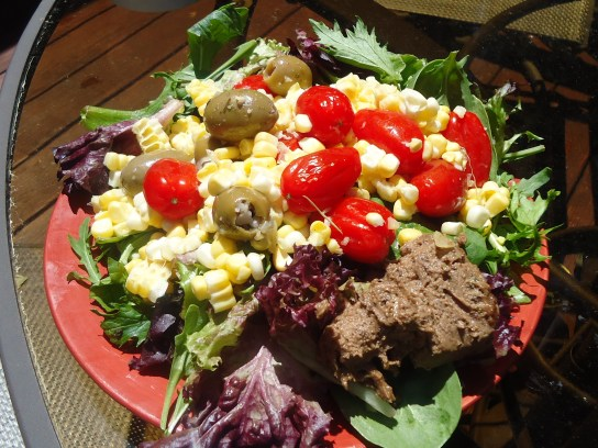 Raw Salad Corn Tomatoes Olive