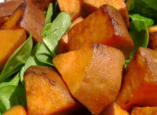 EVOO Roasted Sweet Potatoes