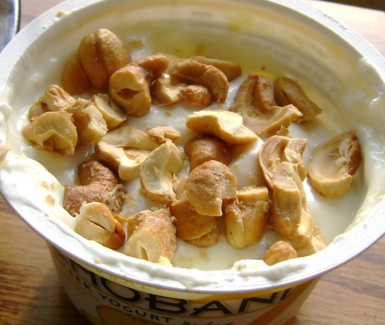 Pineapple Chobani With Maple Glazed Cashews