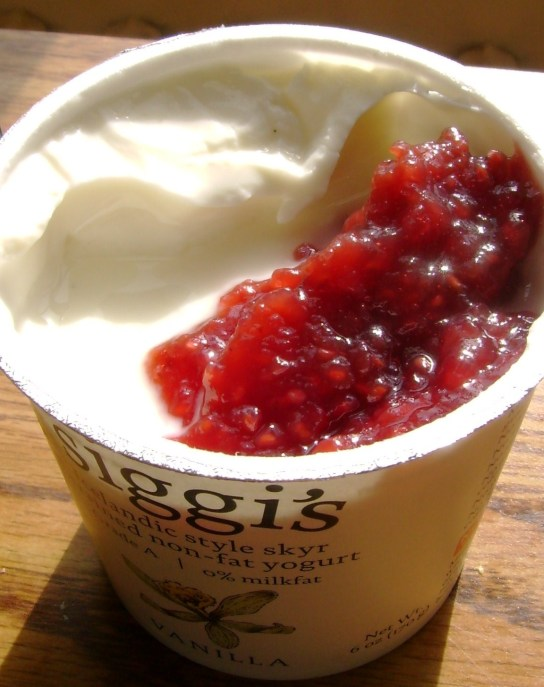 Vanilla Siggi With Organic Raspberry Conserves