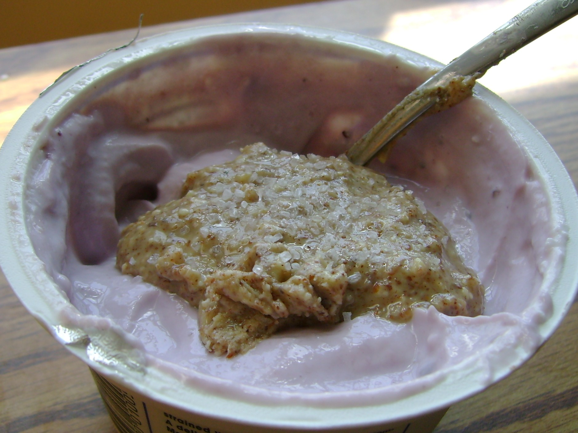 Blueberry Chobani With Raw Almond Butter